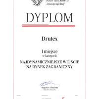 DRUTEX nagrodzony za najdynamiczniejsze wejście na rynek zagraniczny