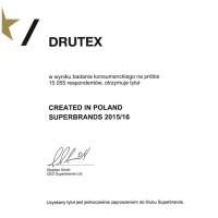 DRUTEX z wyróżnieniem Superbrands