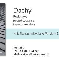 """""""Dachy – podstawy projektowania i wykonawstwa"""" – książka do nabycia w PSD"""