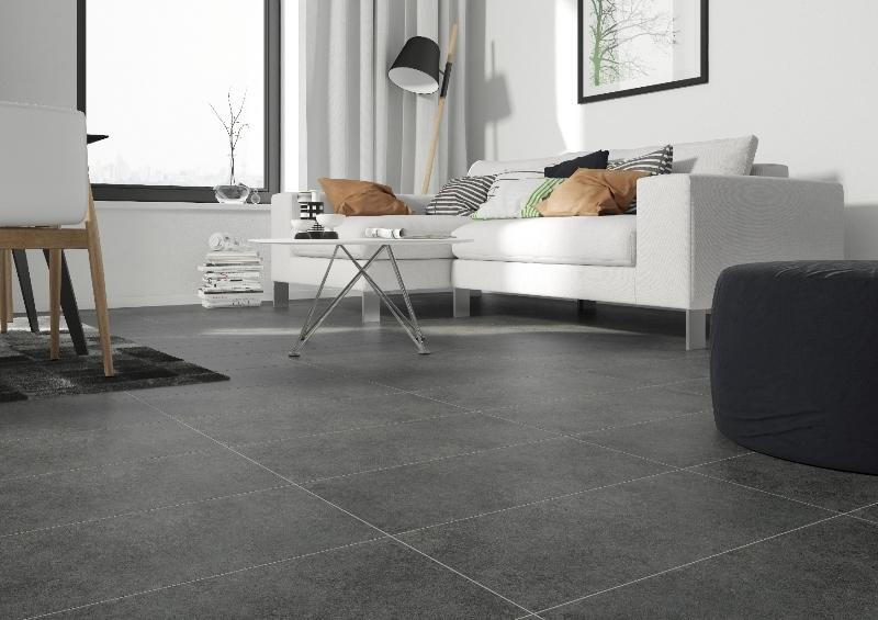 Płytki gresowe Memories firmy Cersanit doskonale sprawdzą się zarówno na podłodze salonie, kuchni, w łazience czy na tarasie. Fot. Cersanit