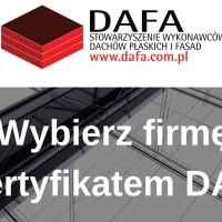 Firmy z Certyfikatem DAFA