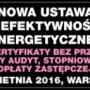 Nowa ustawa o efektywności energetycznej. Białe certyfikaty bez przetargu, nowy audyt, stopniowanie opłaty zastępczej – szkolenie 28 kwietnia