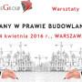 """ZMIANY W PRAWIE BUDOWLANYM – TZW. """"MAŁA NOWELIZACJA PRAWA BUDOWLANEGO"""" – szkolenie 14 kwietnia"""