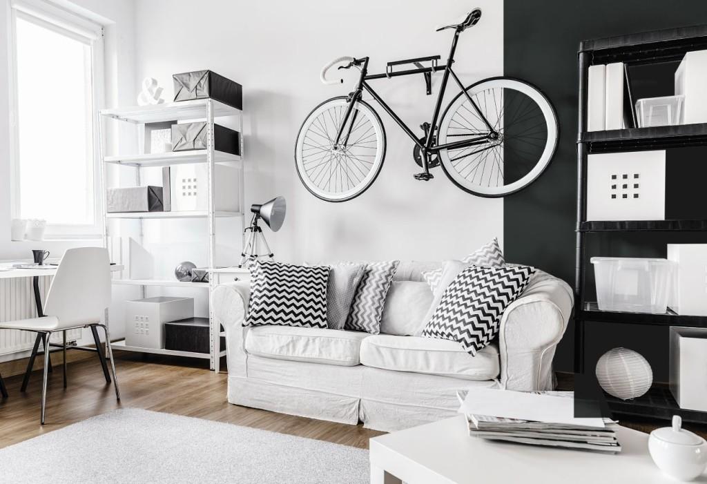 Aranżacja w biało-czarnych kolorach - z wykorzystaniem farb  Bondex Smart Paint. Fot. PPG DECO