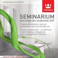 Tikkurila wykłada na warszawskiej ASP – 27 kwietnia
