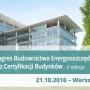 Kongres budownictwa energooszczędnego oraz certyfikacji budynków – w ramach RENEXO Poland 2016 w Warszawie