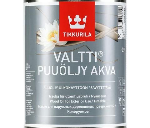 Nowy, ekologiczny olej do drewna Tikkurila Valtti Wood Oil Akva