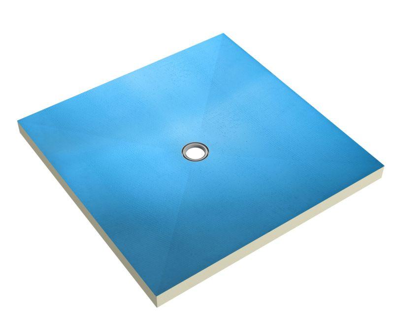 Płyta budowlana brodzikowa z centralnym odpływem punktowym. Fot. Ultrament