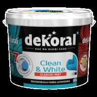 Odporność na szorowanie i najwyższa siła krycia – biała farba lateksowa Dekoral Clean&White