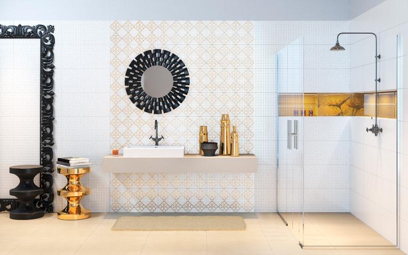 Płytki łazienkowe z kolekcji Art Mosaic. Fot. Opoczno