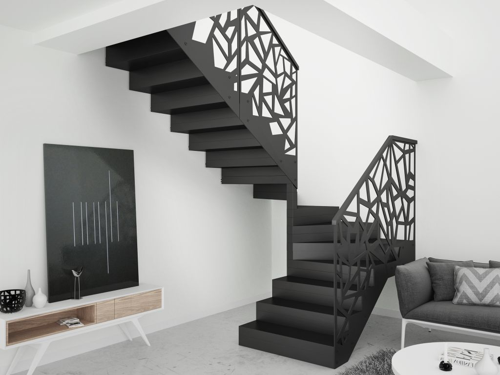 Bia e czy czarne schody inspiracje do oryginalnych wn trz - Escalier milieu de piece ...