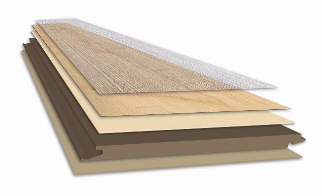Schemat budowy podłogi Wineo 1000 Multi Layer. Fot. Wineo