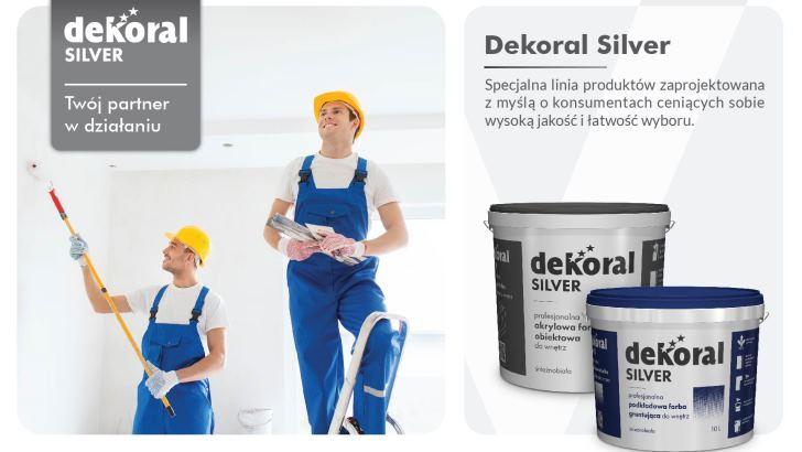Dekoral Silver – nowe farby i preparaty gruntujące dla profesjonalistów