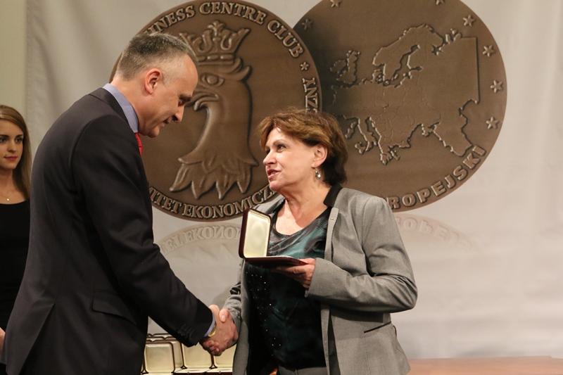 W imieniu firmy Blachy Pruszyński nagrodę Medal Europejski, za systemy płyt warstwowych PIRTECH, odebrał Piotr O. Korycki