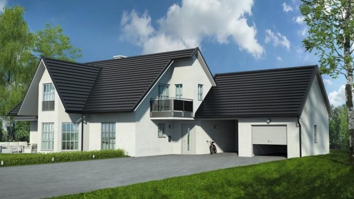 Nowoczesny dom, nowoczesny dach – nowa blachodachówka płaska TYSENIA