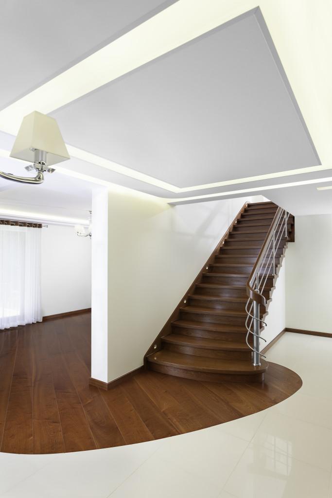 Schody jednobiegowe. Fot. Marchewka Schody - Podłogi - Wnętrza