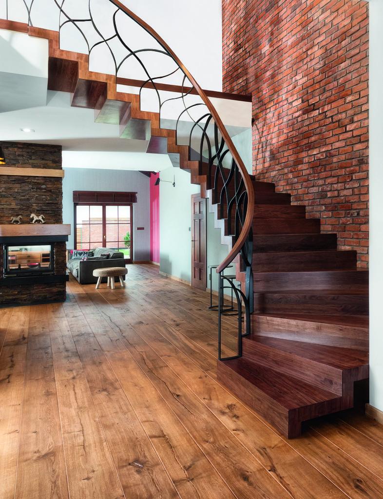 Drewniane schody typu ZETA. Fot. Marchewka Schody - Podłogi - Wnętrza