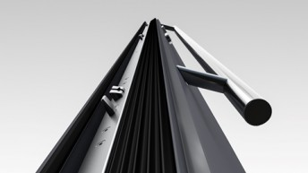 Automatyczna zasuwnica trzypunktowa w drzwiach aluminiowych Drutex