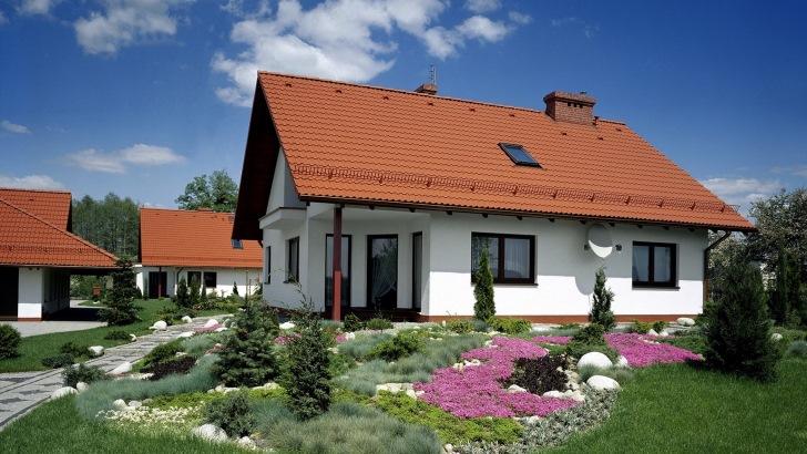 Dachówka betonowa Celtycka marki Braas w kolorze ceglanym. Fot. Monier Braas