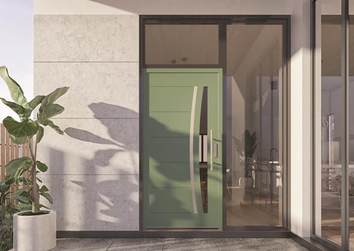 Kolekcja drzwi Premium cechuje się oryginalnymi tłoczeniami i dekorami, eleganckimi przeszkleniami oraz ciekawą kolorystyką. Przy tym gwarantują wysoką izolacyjność cieplną oraz wyjątkową odpornością na niekorzystne warunki atmosferyczne. Fot. Vetrex